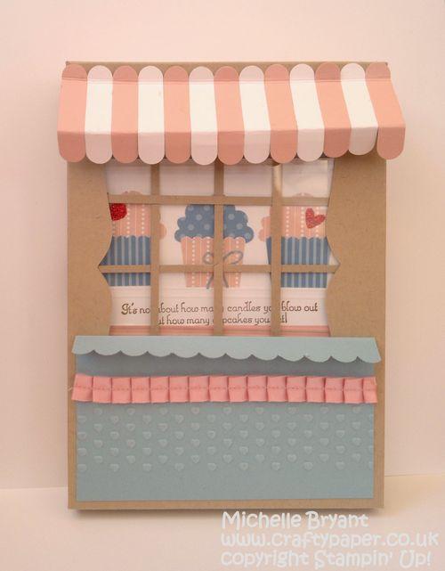 Cupcake shop card box